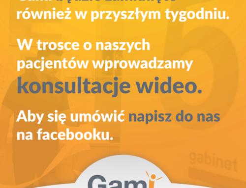 Centrum Fizjoterapii GAMII zamknięte do 29.03.2020